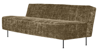 Canapé droit Modern Line Grossman L 180 cm Réédition 1949 Gubi marron en tissu