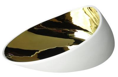 Assiette creuse Jomon Large Bol 18 x 14 cm cookplay blanc,or en céramique