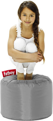 Pouf Point Fatboy Ø 50 x H 35 cm argent en tissu
