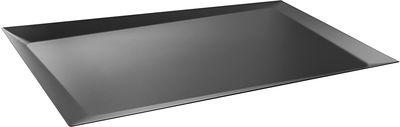 Plateau Alice / 51 x 36 cm - Alessi noir en métal