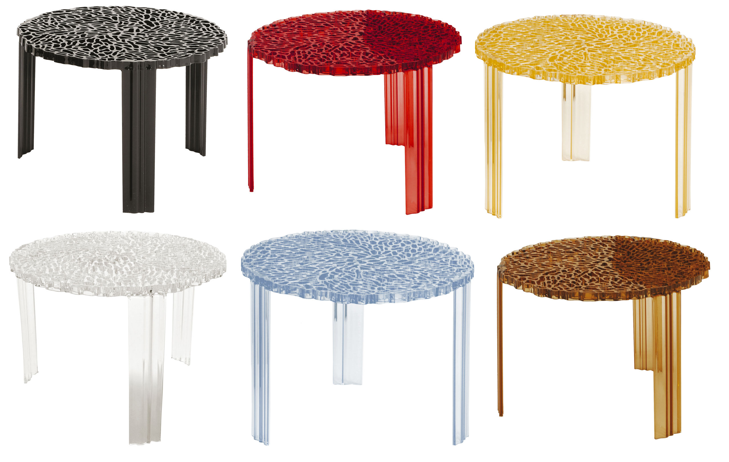 TTable Medio Coffee table  H 36 cm Cristal by Kartell # T Table Kartell