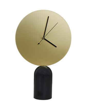 Horloge à poser Nimbe / Bois & métal - H 38 cm - ENOstudio noir,laiton en métal