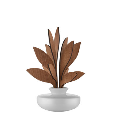 Diffuseur de parfum The Five Seasons / Porcelaine - H 22,5 cm - Alessi blanc,bois naturel en céramique