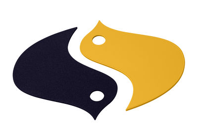 Dessous de plat Oiseaux / Métal - Fermob miel,bleu abysse en métal