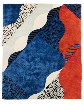 Decoration - Rugs - Silkscreen Small Rug - 200 x 140 cm by Moustache - 200 x 140 cm / Multicolored - Silk, Wool