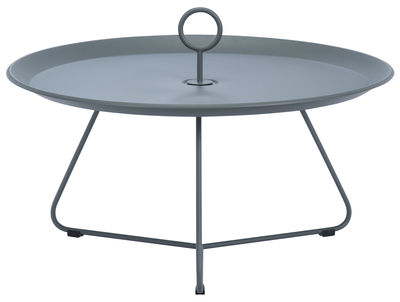 Table basse Eyelet Large / Ø 80 x H 35 cm - Houe gris foncé en métal