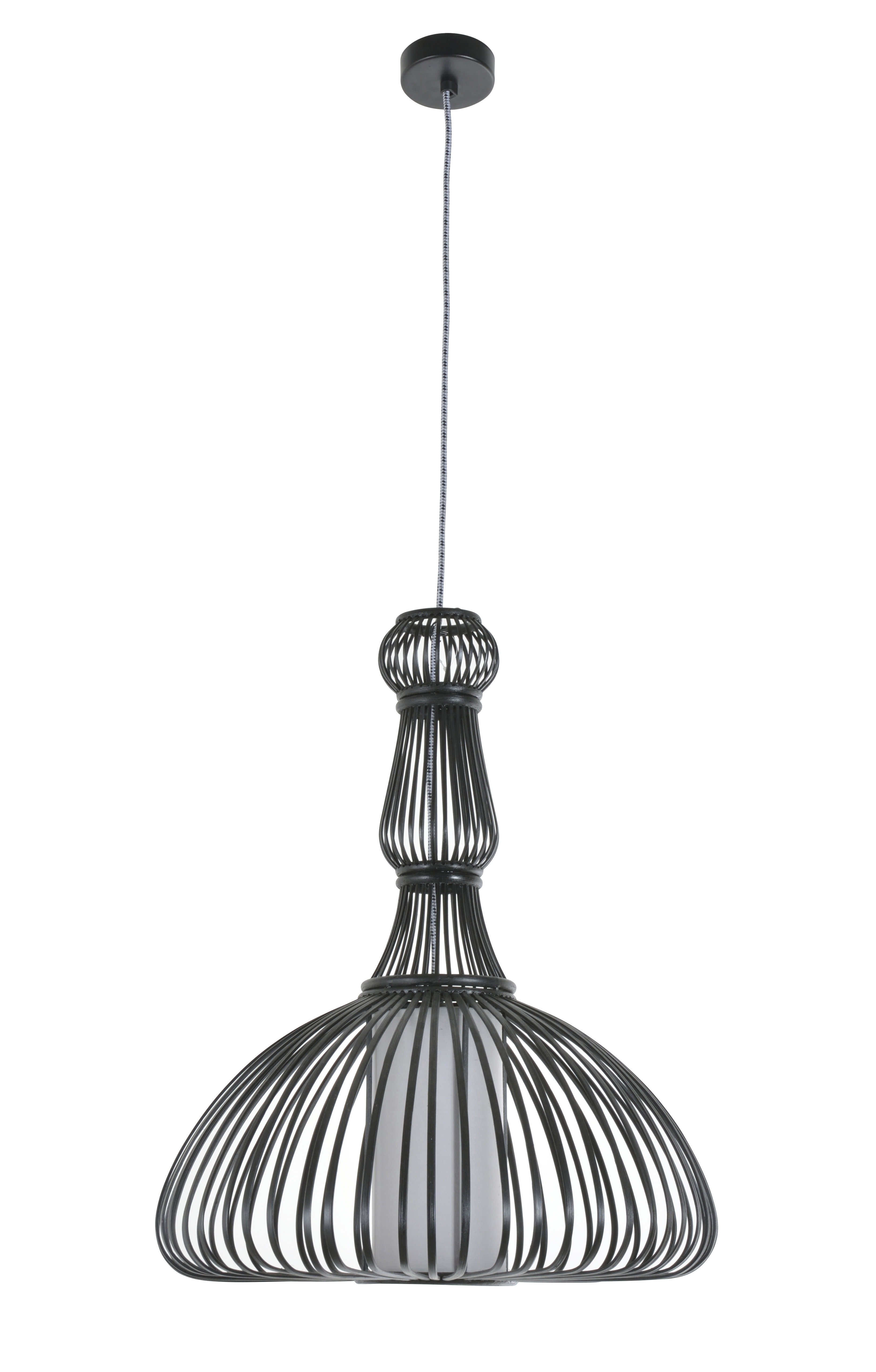 suspension pompadour bambou 47 x h 58 cm noir forestier. Black Bedroom Furniture Sets. Home Design Ideas