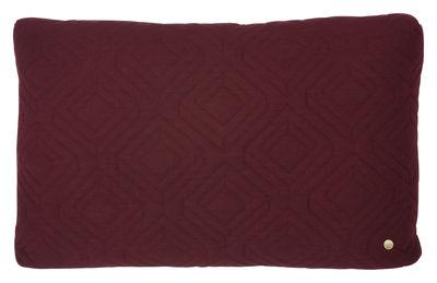 Foto Cuscino Quilt / 60 x 40 cm - Ferm Living - Bordeaux - Tessuto