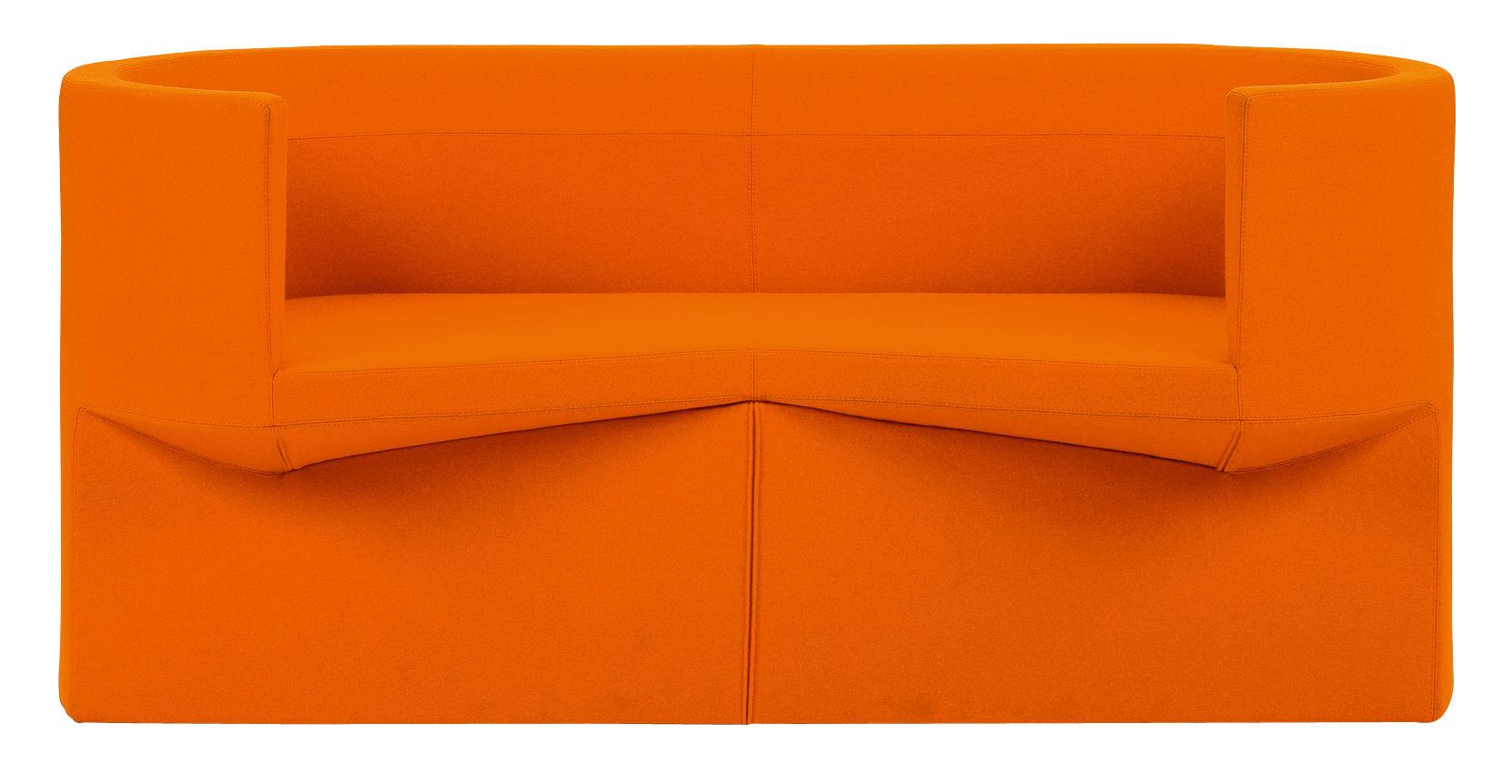 canap droit odin 2 places l 160 cm tissu orange classicon. Black Bedroom Furniture Sets. Home Design Ideas