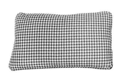 Déco - Coussins - Coussin Largo / 51 x 30 cm - Kartell - Pied-de-poule / Noir - Tissu