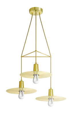 suspension chandelier drop hat 3 branches ampoules incluses laiton plumen. Black Bedroom Furniture Sets. Home Design Ideas