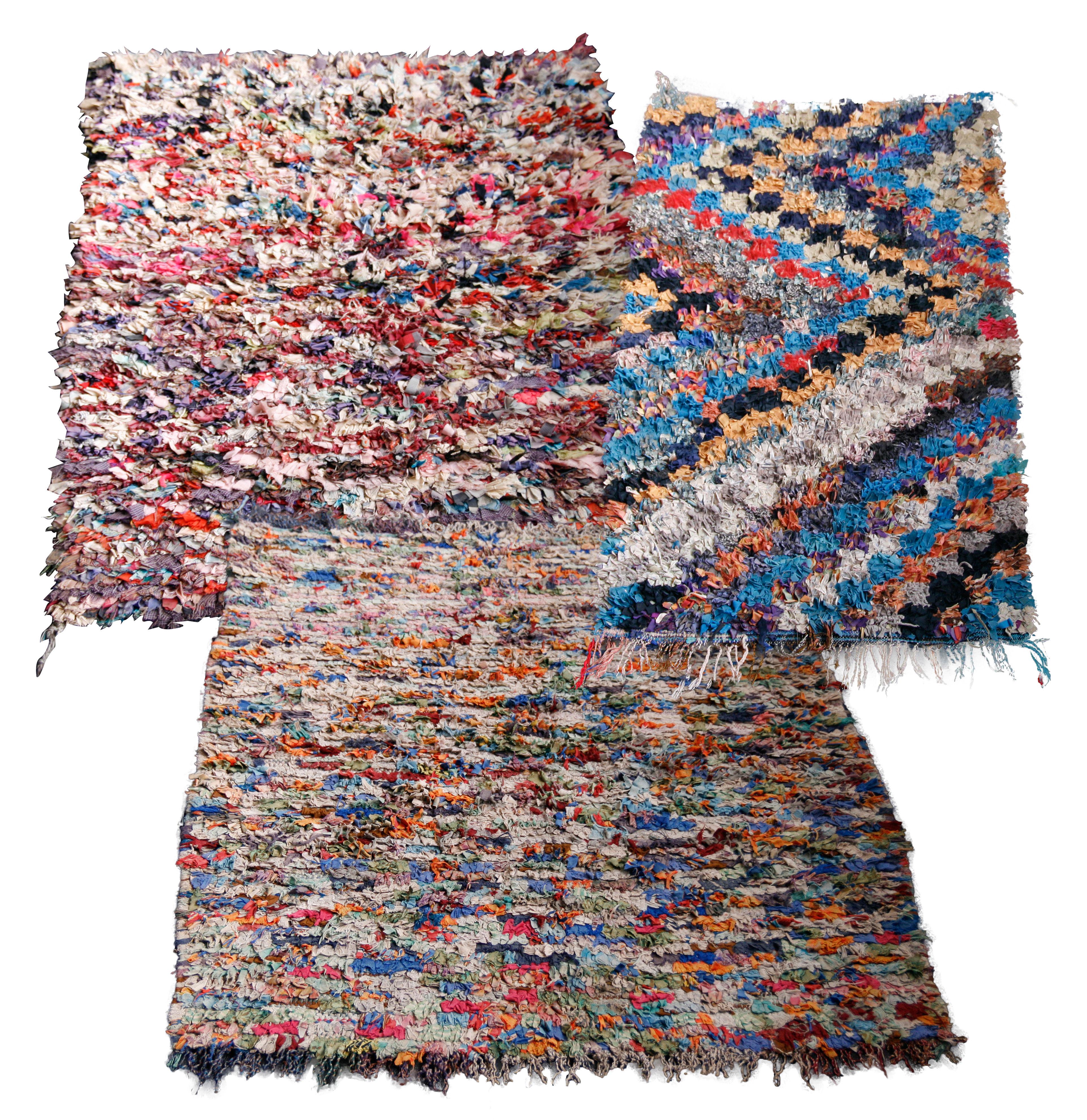 tapis vintage boucherouite multicolore hay. Black Bedroom Furniture Sets. Home Design Ideas