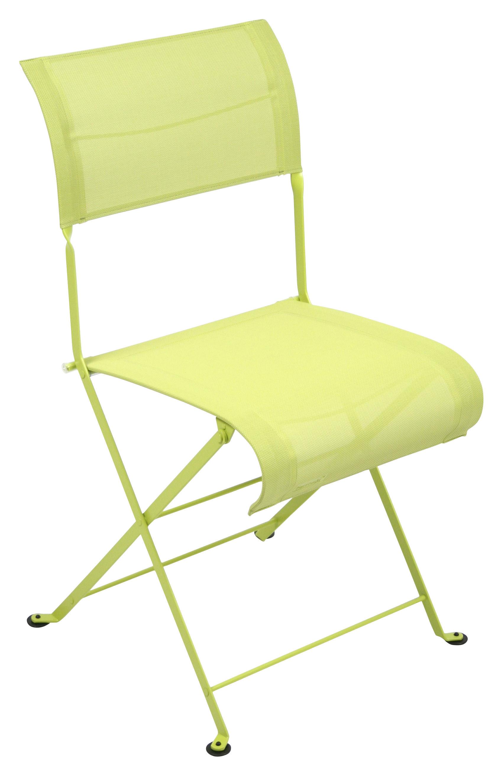 chaise pliante dune toile verveine fermob. Black Bedroom Furniture Sets. Home Design Ideas