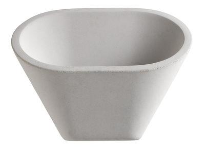 Applique Aplomb LED / Ciment - L 30 x H 24 cm - Foscarini blanc en pierre