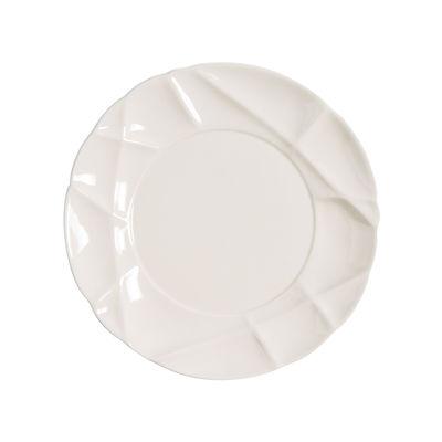 Assiette à dessert Succession / Ø 21 cm - Porcelaine - Fait main - Petite Friture blanc en céramique