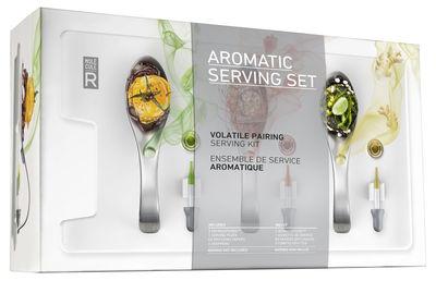 Arts de la table - Assiettes - Kit cuisine moléculaire Service Aromatique - Molécule-R - Aromaspoons / Sans arôme - Acier, Papier, Porcelaine, Verre