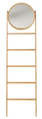 Mobilier - Portemanteaux, patères & portants - Miroir sur pied Bamboo / Porte-serviettes - H 170 cm - Bloomingville - Bambou naturel - Bois de bambou
