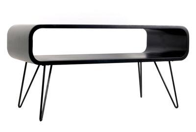 Tavolino basso Metro Coffee / L 90 x H 45 cm - XL Boom - Nero - Metallo