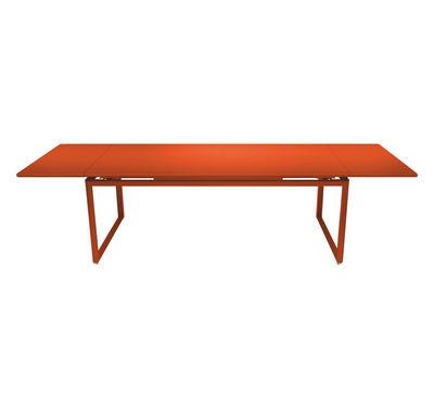 Foto Tavolo con prolunga Biarritz - allungabile - L 200 a 300 cm di Fermob - Paprika - Metallo