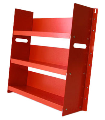 Bibliothèque Livorno 60 - Danese rouge en métal