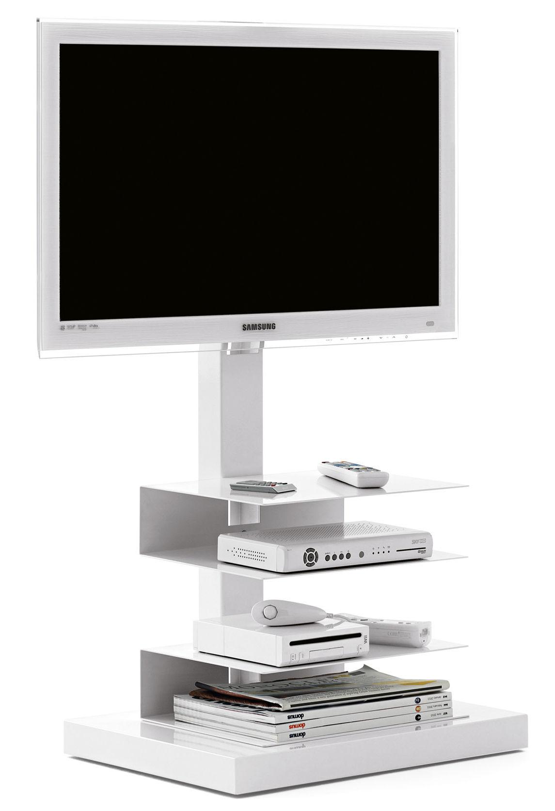 meuble tv ptolomeo pour cran de 20 42 pouces blanc. Black Bedroom Furniture Sets. Home Design Ideas