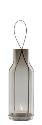 Lanterne H 20 cm / Photophore - Eva Solo gris fumé en verre