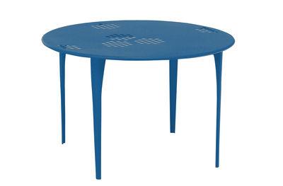 Pattern Tisch Ø 117 cm - Emu - Azurblau