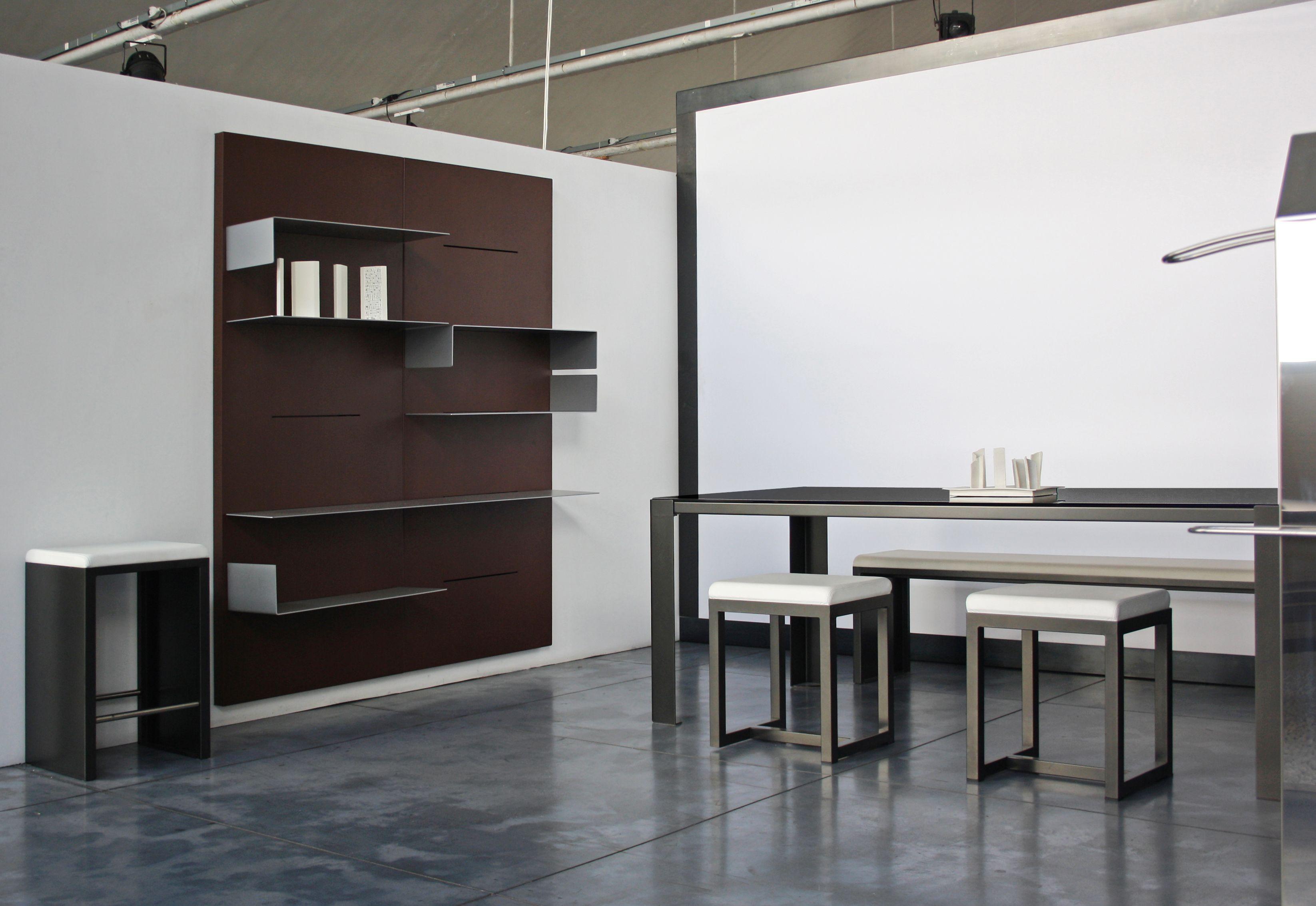 biblioth que iwall tag re avec un rebord l 78 cm. Black Bedroom Furniture Sets. Home Design Ideas