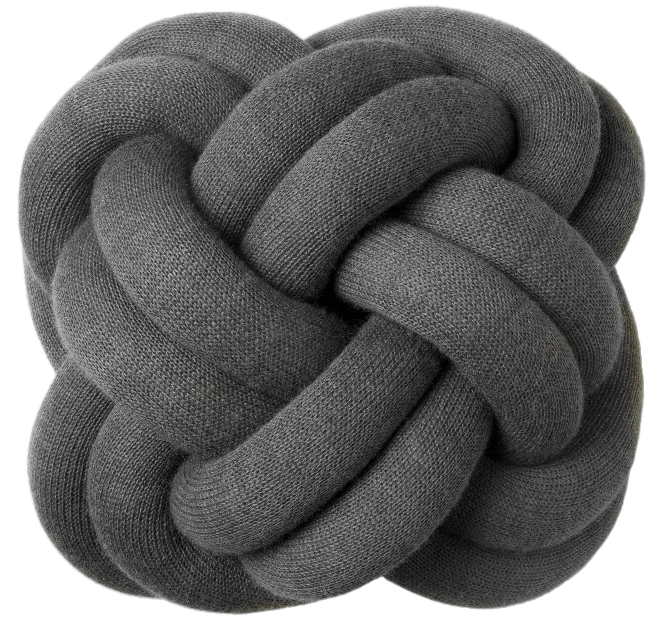 coussin knot gris fonc design house stockholm. Black Bedroom Furniture Sets. Home Design Ideas