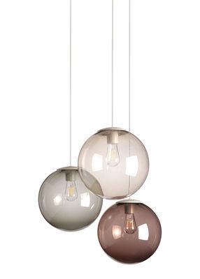 Luminaire - Suspensions - Suspension Spheremaker / Set 3 sphères - Fatboy - Taupe, Gris , Marron - PMMA soufflé