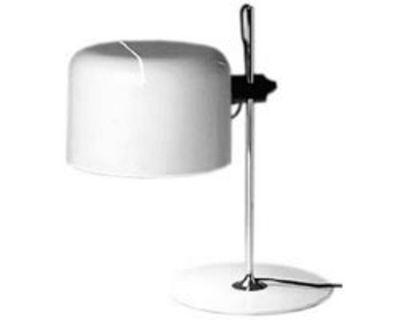 Foto Lampada da tavolo Coupé di O luce - Bianco - Metallo
