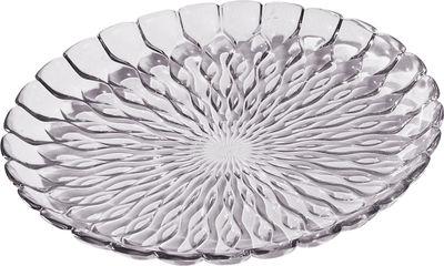 Plat Jelly /Centre de table - Ø 45 cm - Kartell fumé transparent en matière plastique