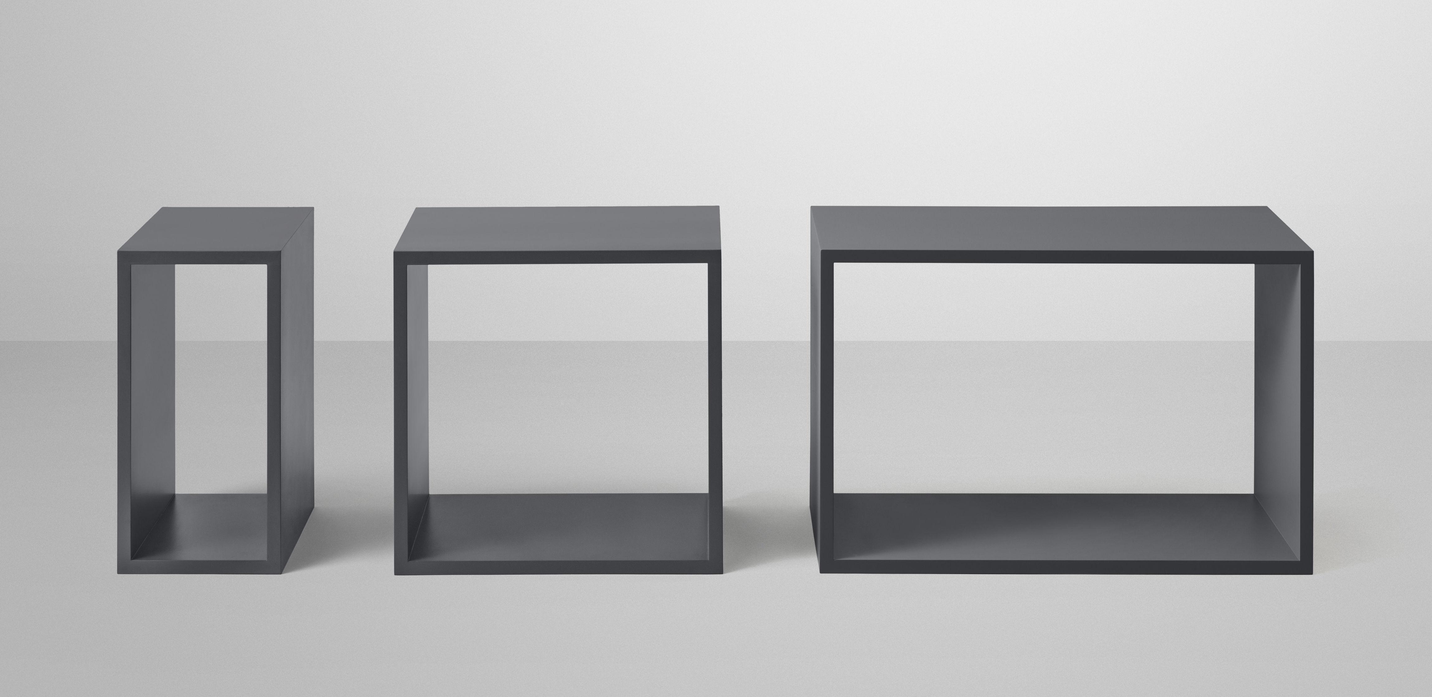 etag re stacked large rectangulaire 65x43 cm sans fond gris fonc muuto. Black Bedroom Furniture Sets. Home Design Ideas