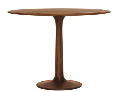 Mobilier - Tables - Table Turntable / Ø 90 cm - Zeitraum - Ø 90 cm - Noyer Americain - Noyer massif