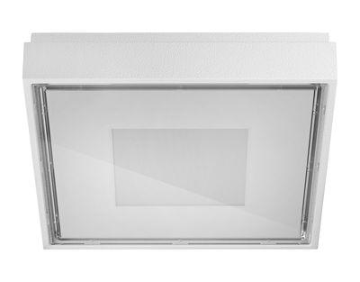Luminaire - Appliques - Applique Box / Plafonnier - LED - 11 x 11 cm - Panzeri - Blanc - Aluminium, Thermoplastique