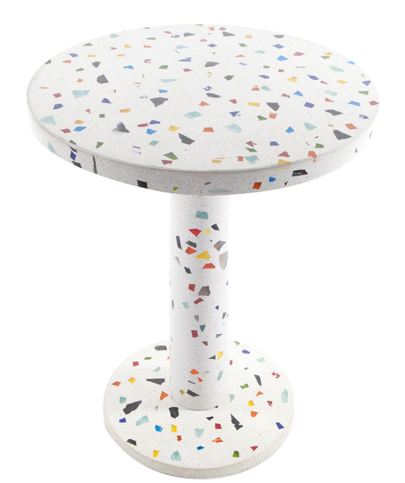 Table d 39 appoint kyoto by shiro kuramata 1983 multicolore memphis milano for Set de table multicolore