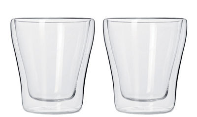 Tasse à espresso Duo double paroi / Lot de 2 - 40 ml - Leonardo transparent en verre