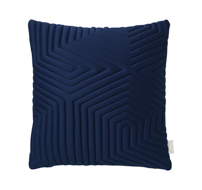 Déco - Coussins - Coussin Linear Memory / 45 x 45 cm - Mémoire de forme & tissu 3D - Nomess - Bleu - Mousse à mémoire de forme, Tissu 3D
