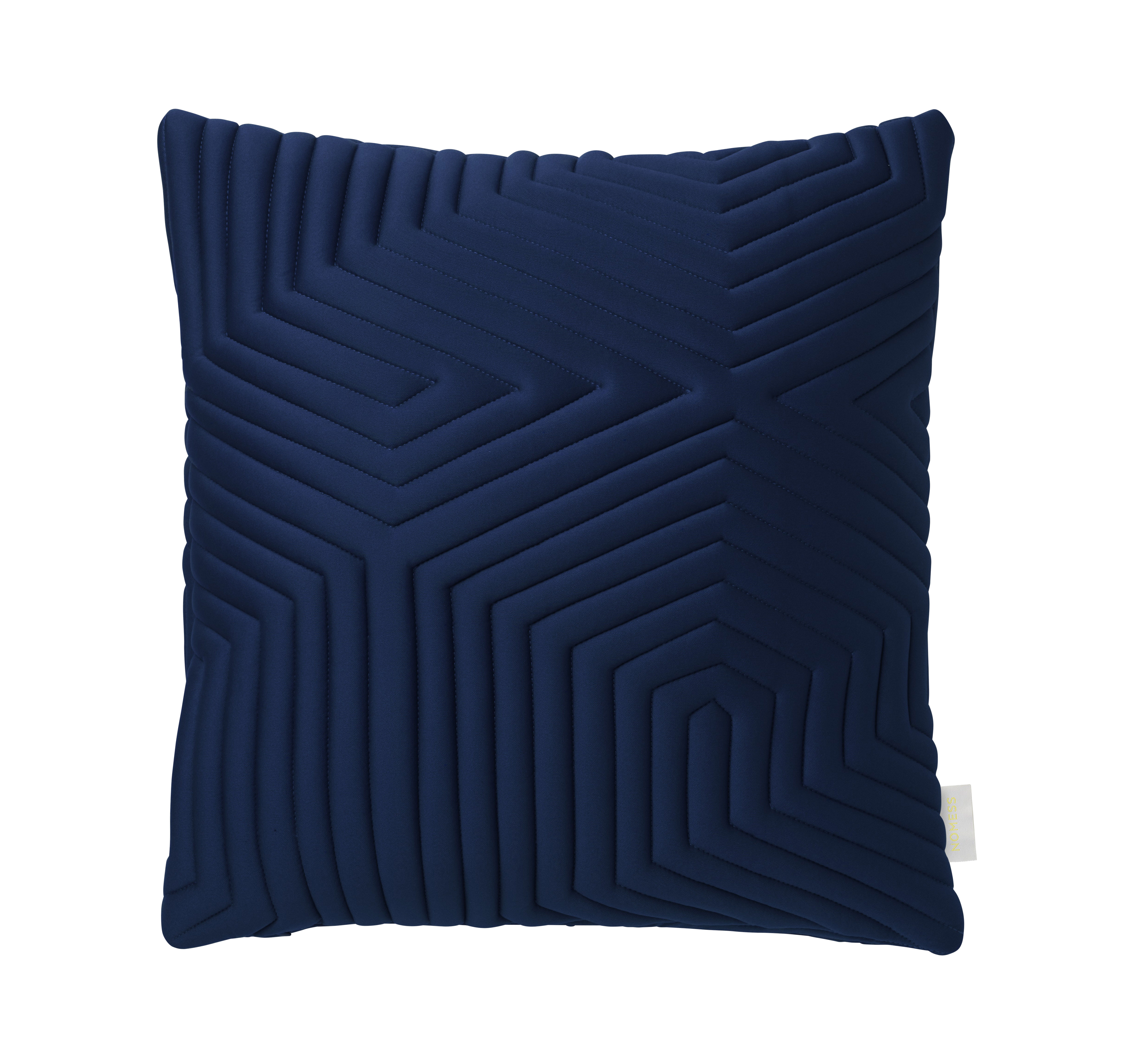 coussin linear memory 45 x 45 cm m moire de forme tissu 3d bleu nomess. Black Bedroom Furniture Sets. Home Design Ideas