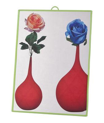 Déco - Miroirs - Miroir Toiletpaper / Flowers -  Small H 23 cm - Seletti - Fleurs / Cadre vert - Matière plastique, Verre sérigraphié