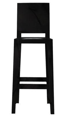 Chaise de bar One more please / H 75cm - Plastique - Kartell noir en matière plastique