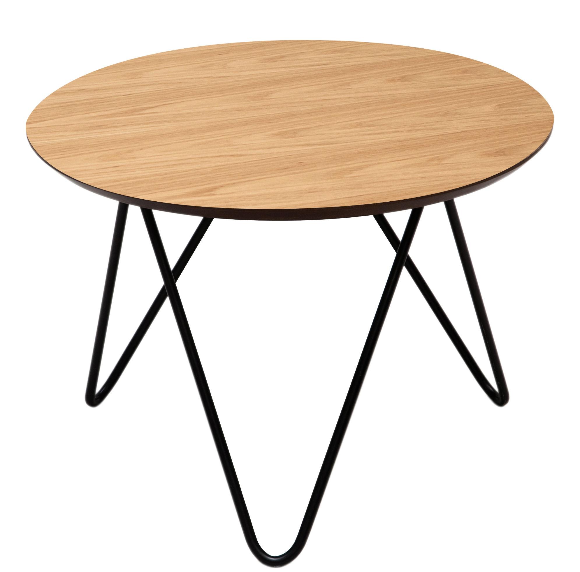 Table Basse Bergerac Mod Le Bas H 30 Cm Noir Ch Ne
