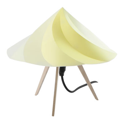 Foto Lampada da tavolo Chantilly Small - / H 28 cm di Moustache - Giallo - Materiale plastico