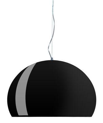 Luminaire - Suspensions - Suspension FL/Y / Ø 52 cm - Kartell - Noir opaque brillant - PMMA teinté dans la masse