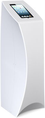 Foto Scrivania Tablet Tower - / Con vano per tablet di Flux - Bianco - Materiale plastico