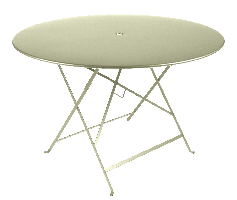 Table pliante bistro 117 cm 6 8 personnes trou for Dimension table 6 8 personnes