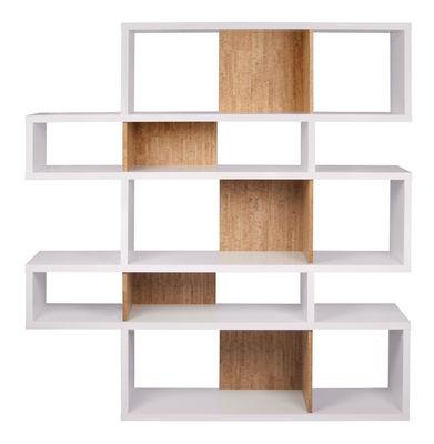 Libreria London 02 / Pannelli di Sughero - L 156 x H 160 cm - POP UP HOME - Bianco,Sughero - Legno