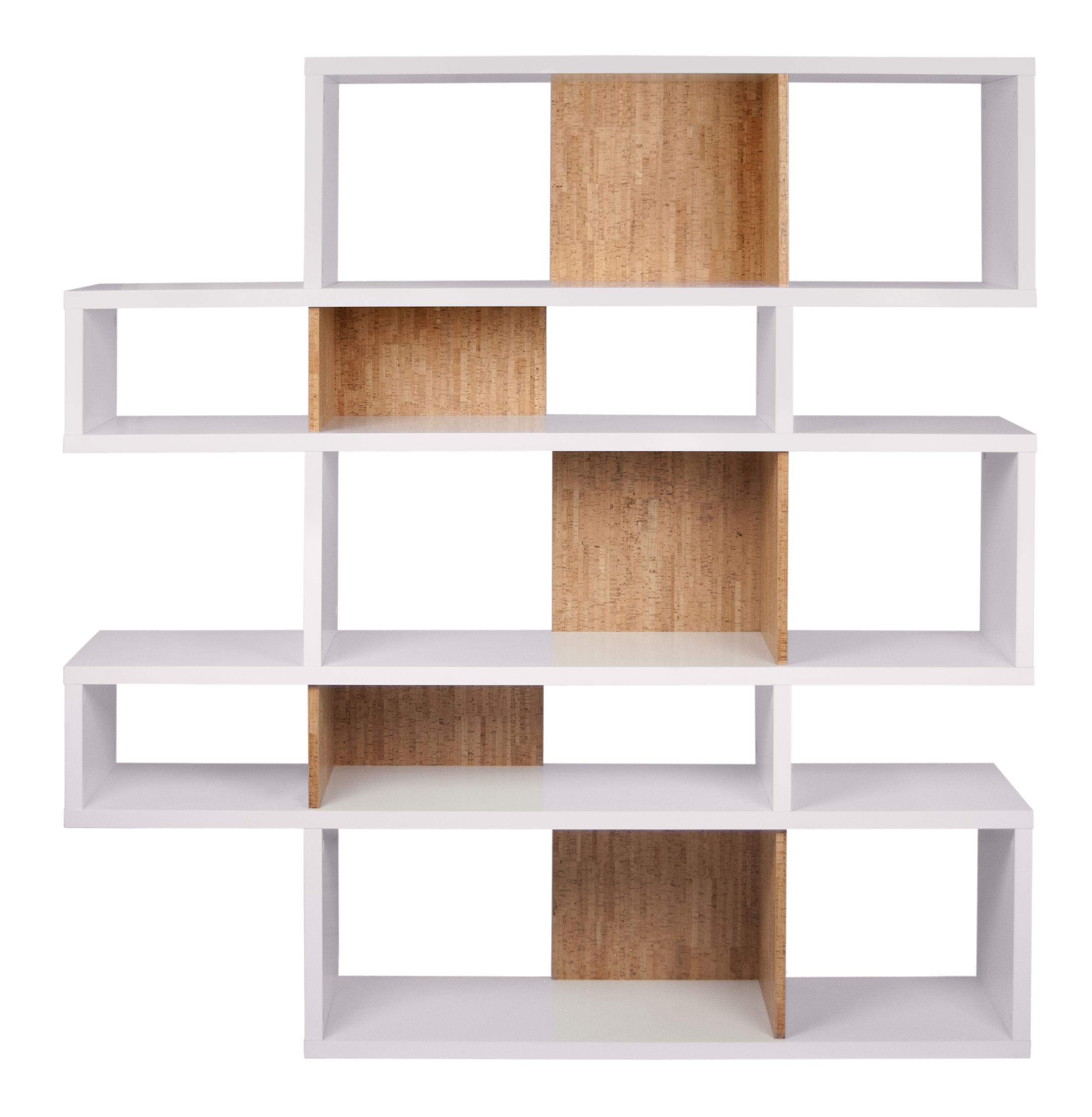 biblioth que shift 02 panneaux li ge l 156 x h 160 cm blanc panneaux li ge pop up home. Black Bedroom Furniture Sets. Home Design Ideas