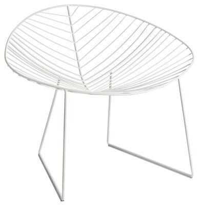 Chaise Leaf / Métal - Arper blanc en métal