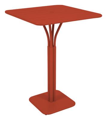 Foto Tavolo bar alto Luxembourg - 80 x 80 x A 105 cm di Fermob - Paprika - Metallo